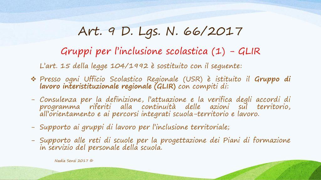 Gruppi per l'inclusione scolastica (1) - GLIR