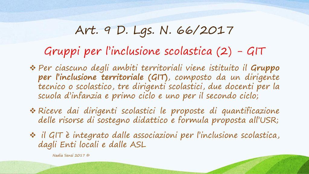 Gruppi per l'inclusione scolastica (2) - GIT