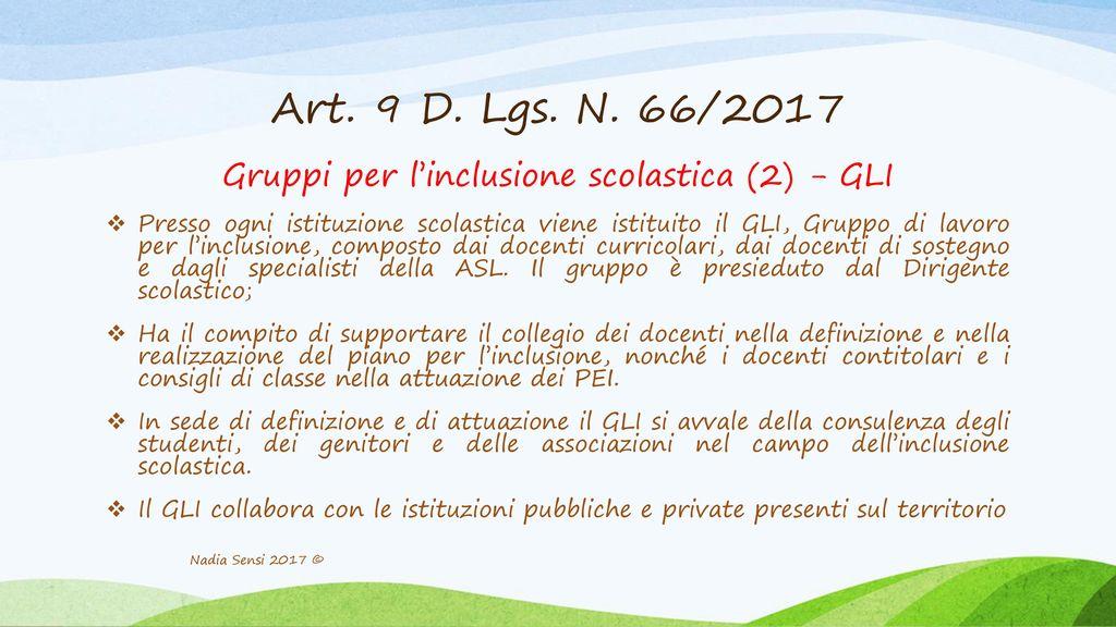 Gruppi per l'inclusione scolastica (2) - GLI