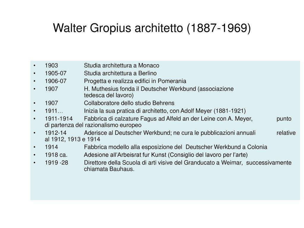 Architettura walter gropius ppt scaricare - Lavoro architetto berlino ...