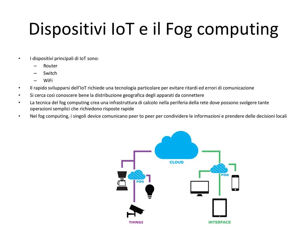 Dispositivi IoT e il Fog computing