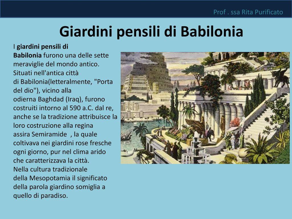 Le sette meraviglie del mondo antico ppt scaricare - Giardini pensili immagini ...