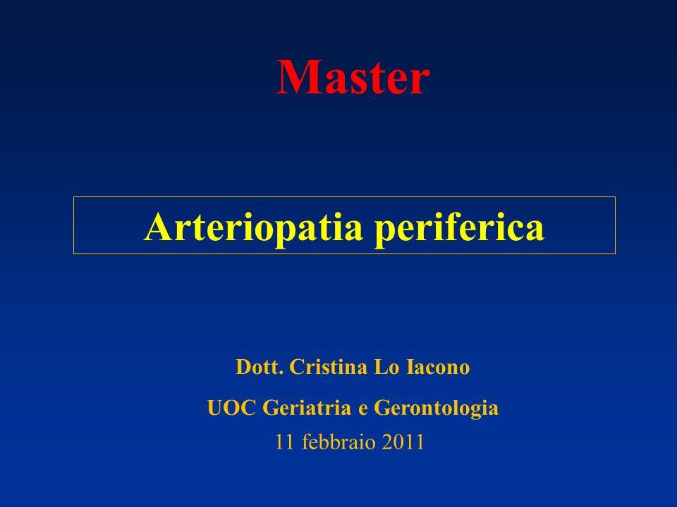 Master Arteriopatia periferica Dott. Cristina Lo Iacono