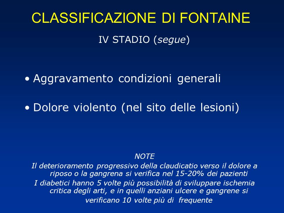 CLASSIFICAZIONE DI FONTAINE
