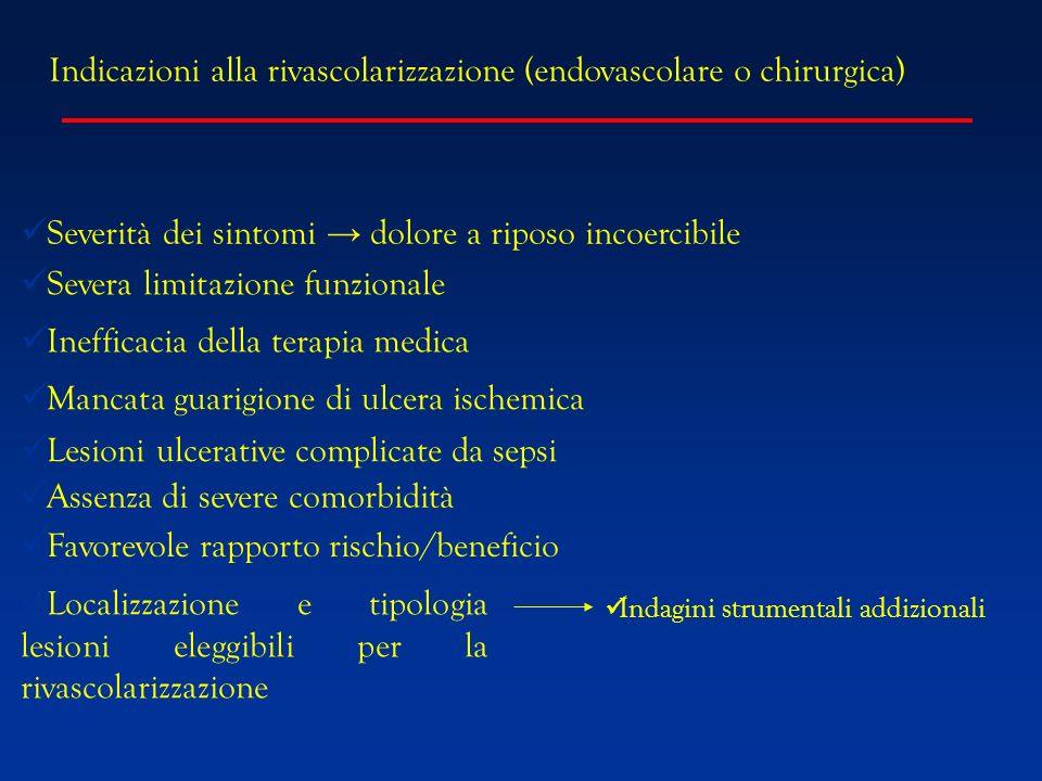 Indicazioni alla rivascolarizzazione (endovascolare o chirurgica)