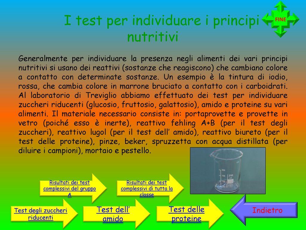 I principi nutritivi quali sono i test per individuarli for Provette e portaprovette