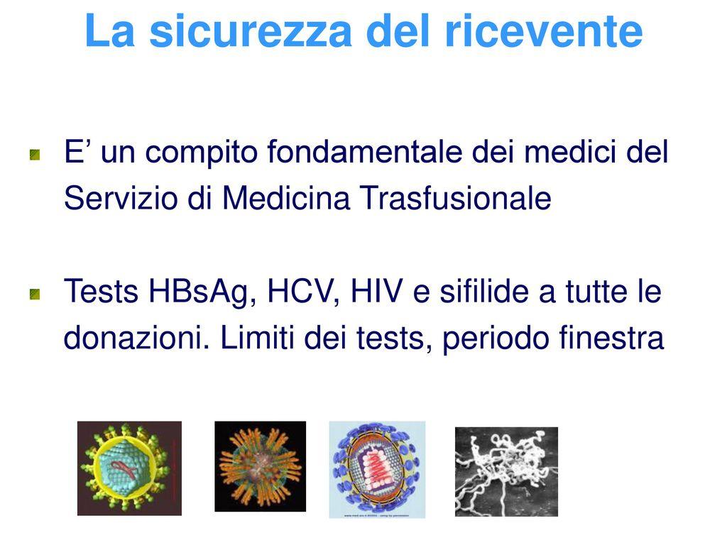 La medicina trasfusionale ppt scaricare - Periodo finestra sifilide ...