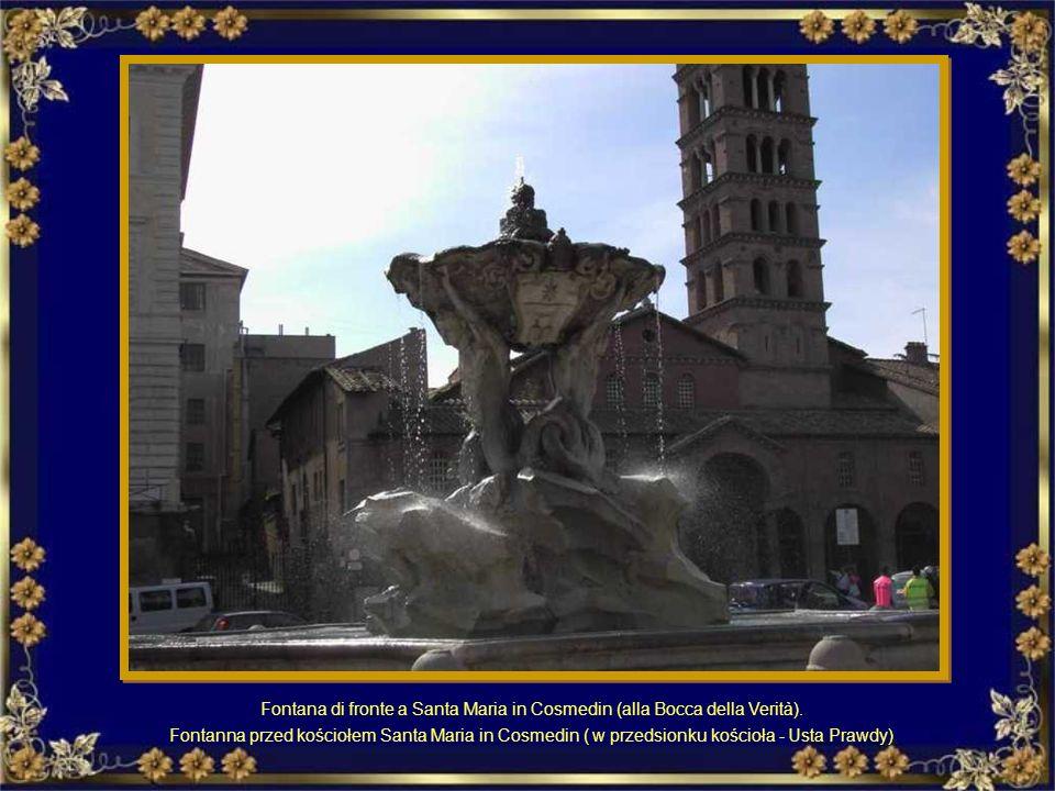 Fontana di fronte a Santa Maria in Cosmedin (alla Bocca della Verità).