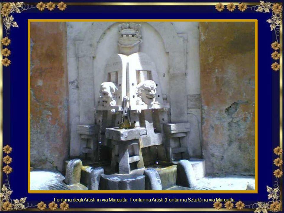 Fontana degli Artisti in via Margutta Fontanna Artisti (Fontanna Sztuk) na via Margutta