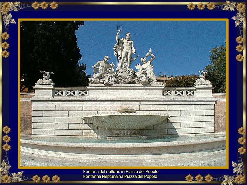 Fontana del nettuno in Piazza del Popolo