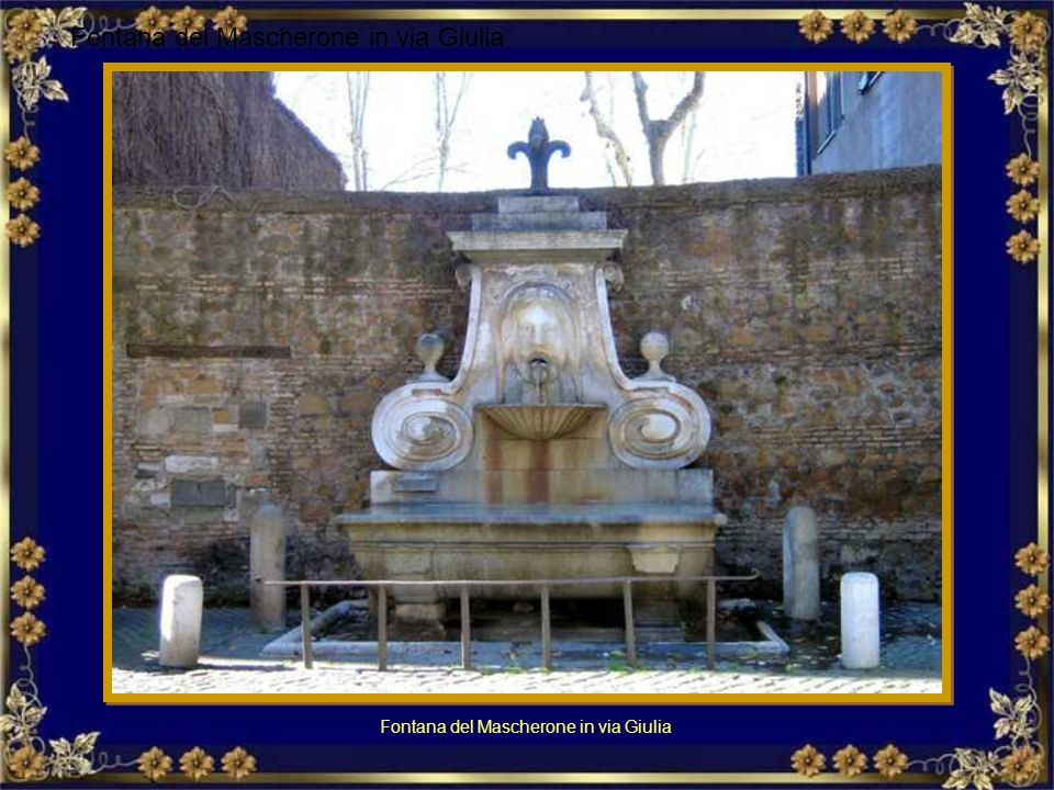 Fontana del Mascherone in via Giulia