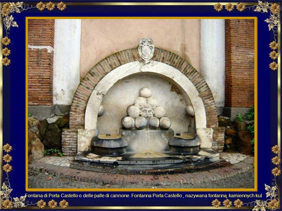 Fontana di Porta Castello o delle palle di cannone