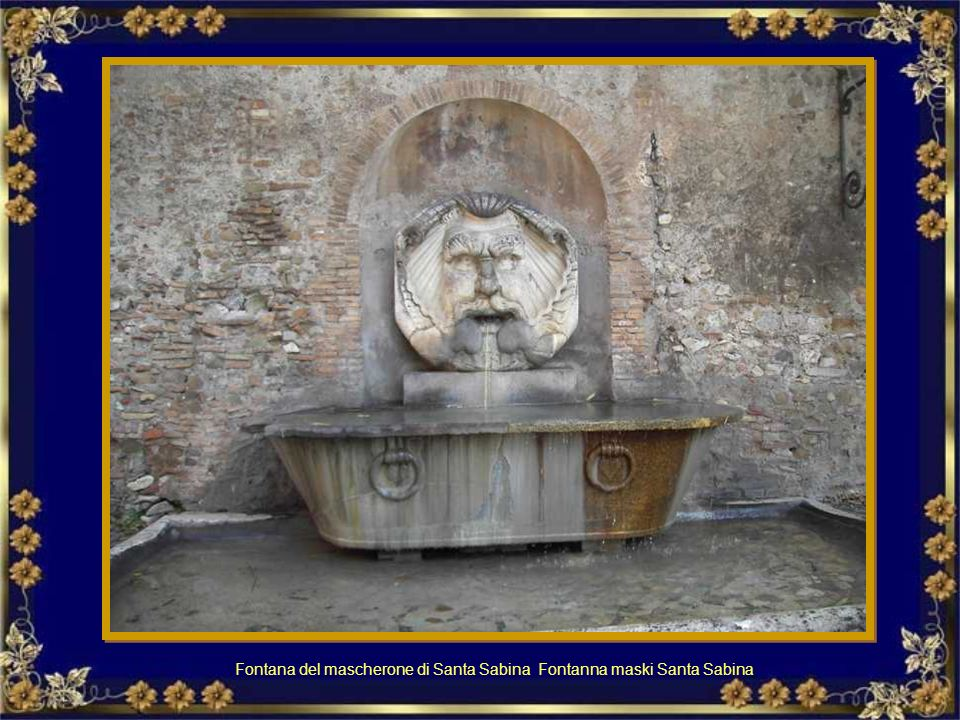 Fontana del mascherone di Santa Sabina Fontanna maski Santa Sabina