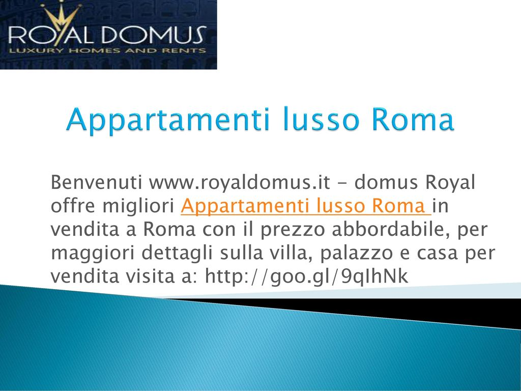 Home welcome to royal domus is best agency for luxury for Appartamenti lusso roma