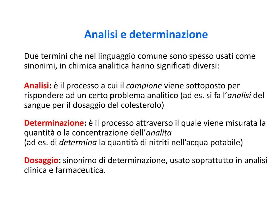 Analisi e determinazione due termini che nel linguaggio - Sinonimo di diversi ...