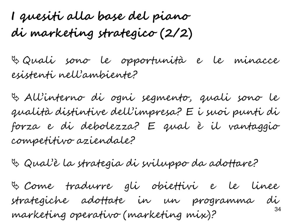 Il marketing la gestione operativa dell impresa ppt for Creatore di piano di base