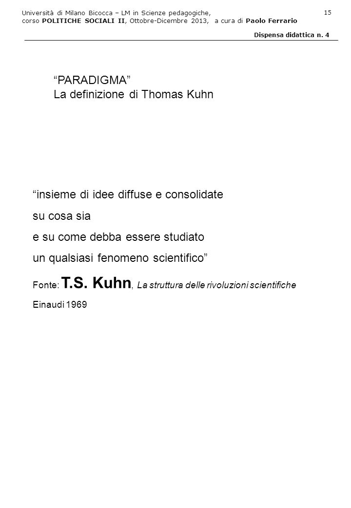 La definizione di Thomas Kuhn