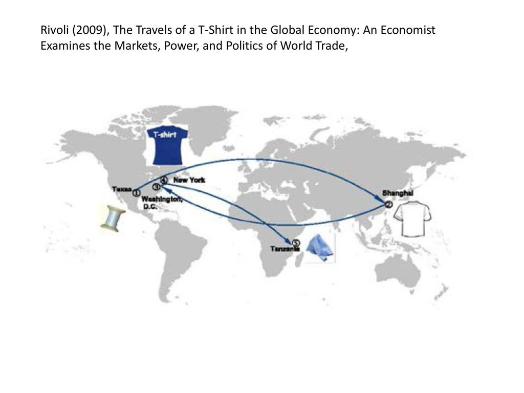 thesis of the travels of at-shirt in the global economy 1 quote from the travels of a t-shirt in the global economy: an economist examines the markets, power, and politics of world trade: 'how did the farm bil.