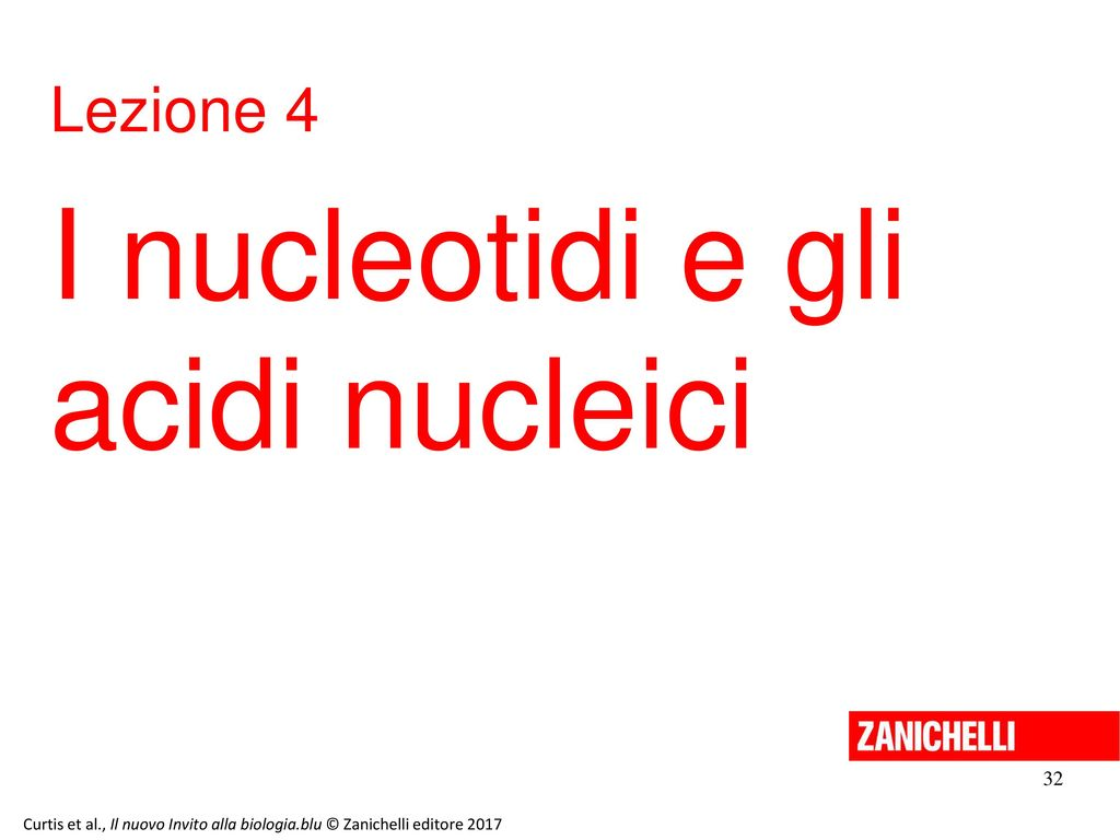 I nucleotidi e gli acidi nucleici Lezione 4 32 13/11/11 32