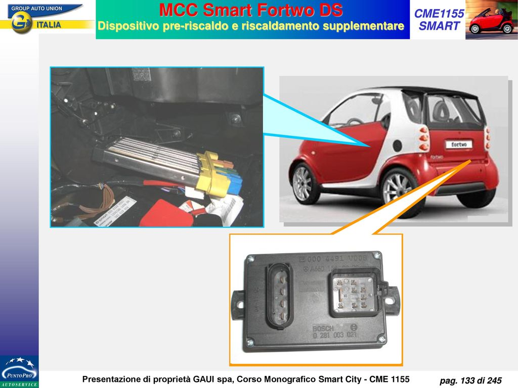 MCC Smart Fortwo DS Dispositivo pre-riscaldo e riscaldamento supplementare