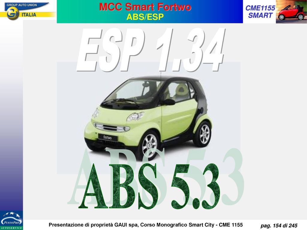 MCC Smart Fortwo ABS/ESP