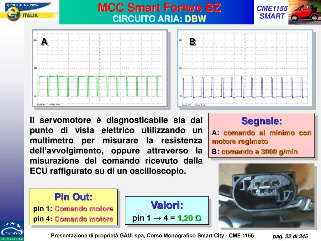MCC Smart Fortwo BZ Valori: Segnale: Pin Out: che la
