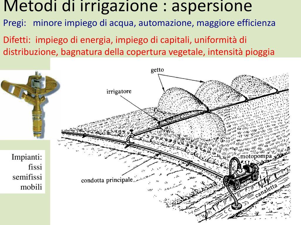 Elementi di agronomia marco mazzoncini ppt scaricare for Irrigazione per aspersione