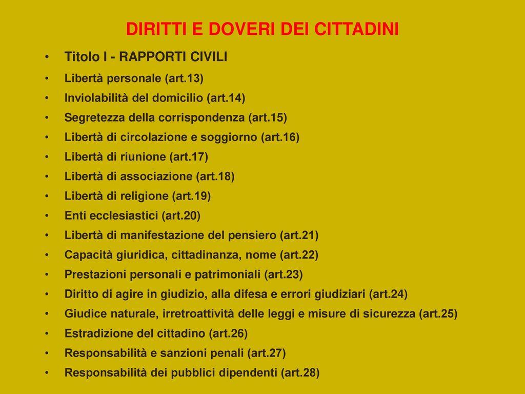 COSTITUZIONE ITALIANA - ppt scaricare