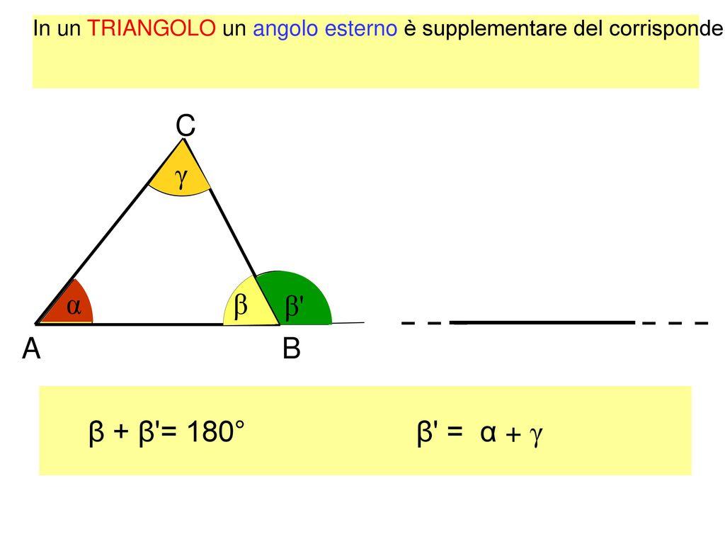 i triangoli ppt scaricare On angolo esterno e uguale alla somma