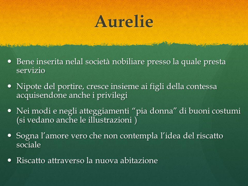 Aurelie Bene inserita nelal società nobiliare presso la quale presta servizio.