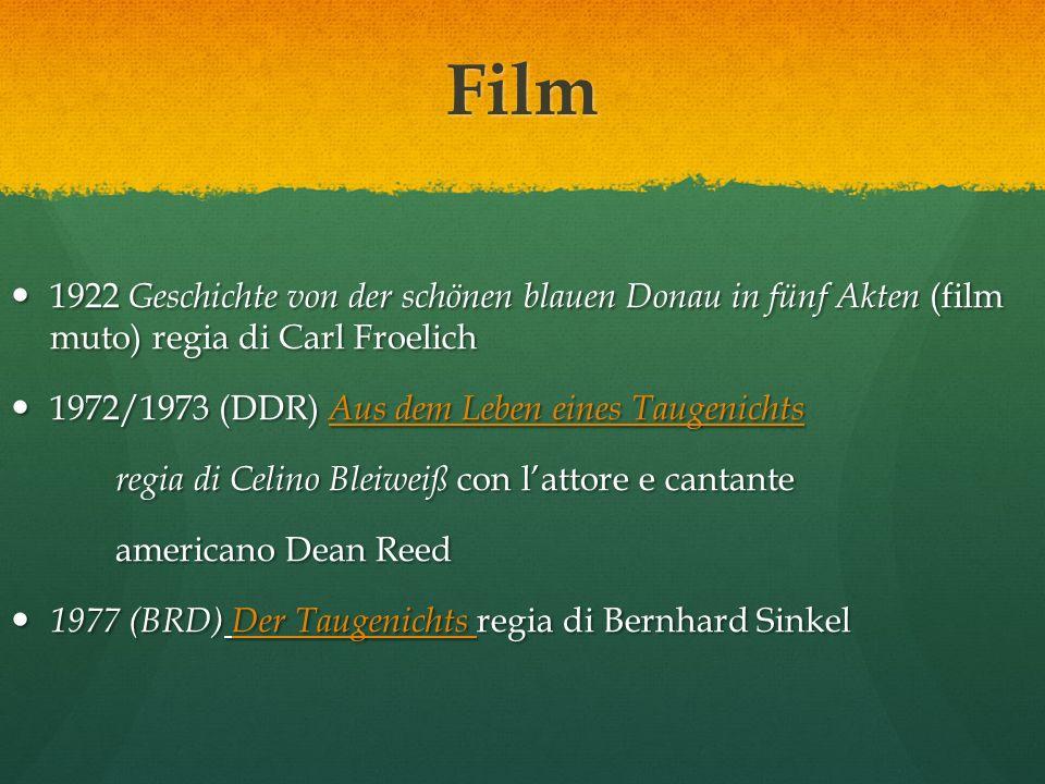 Film 1922 Geschichte von der schönen blauen Donau in fünf Akten (film muto) regia di Carl Froelich.
