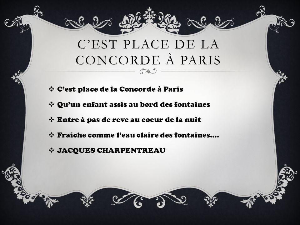 C'est place de la concorde À paris