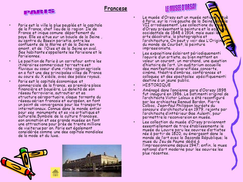 LE MUSEE D ORSAY PARIS Francese