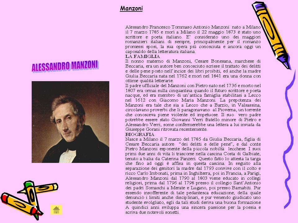 Manzoni ALESSANDRO MANZONI
