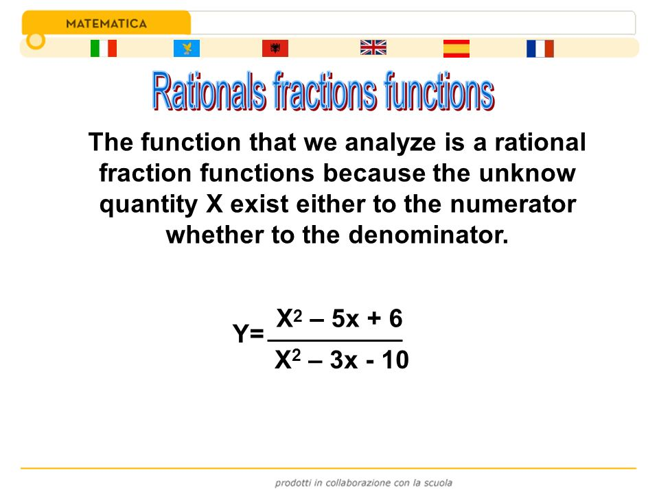 Rationals fractions functions
