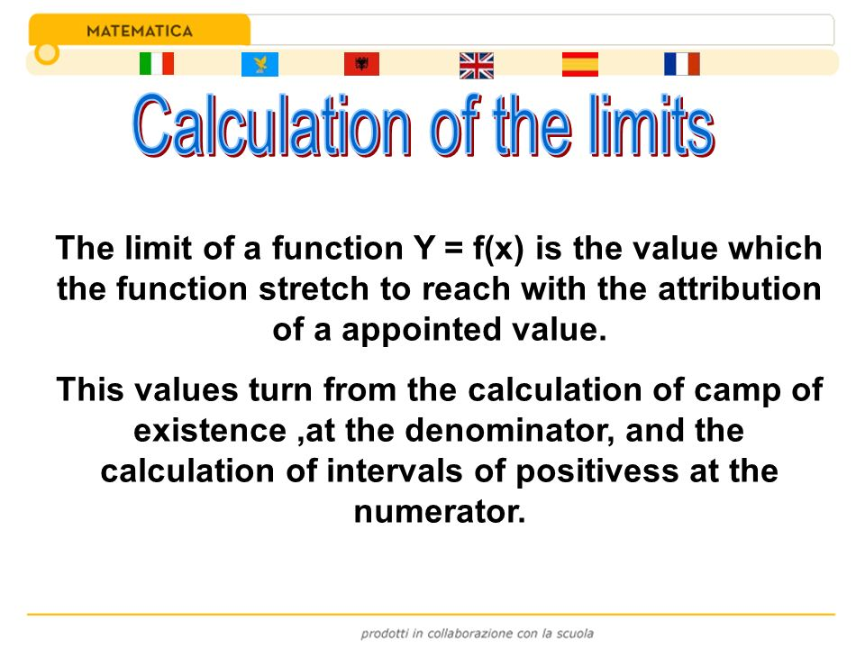 Calculation of the limits