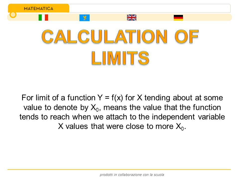 CALCULATION OF LIMITS