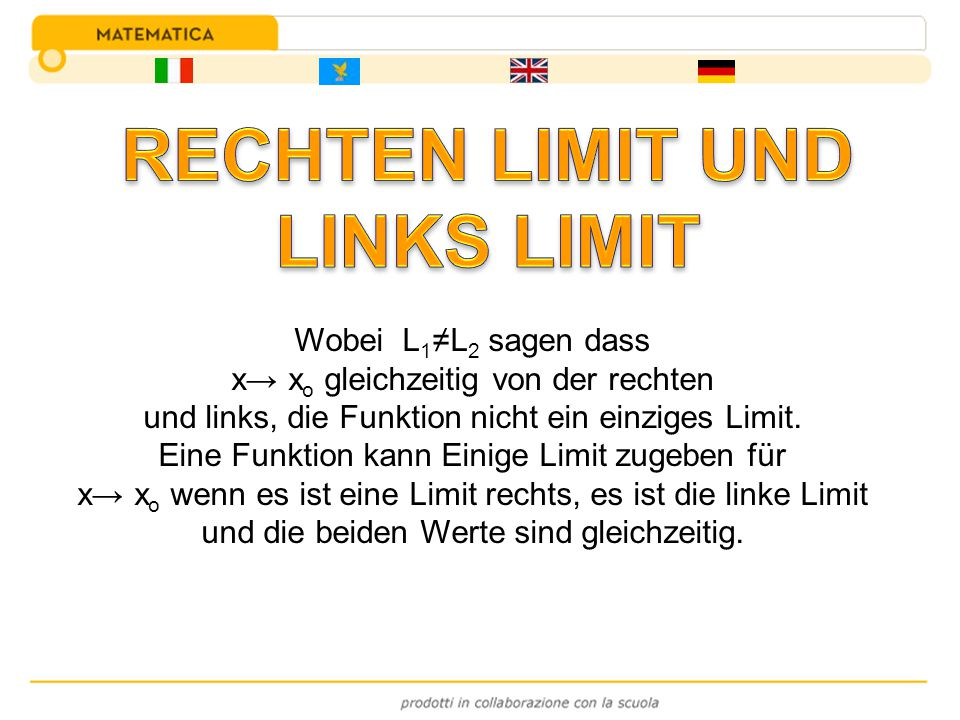 RECHTEN LIMIT UND LINKS LIMIT