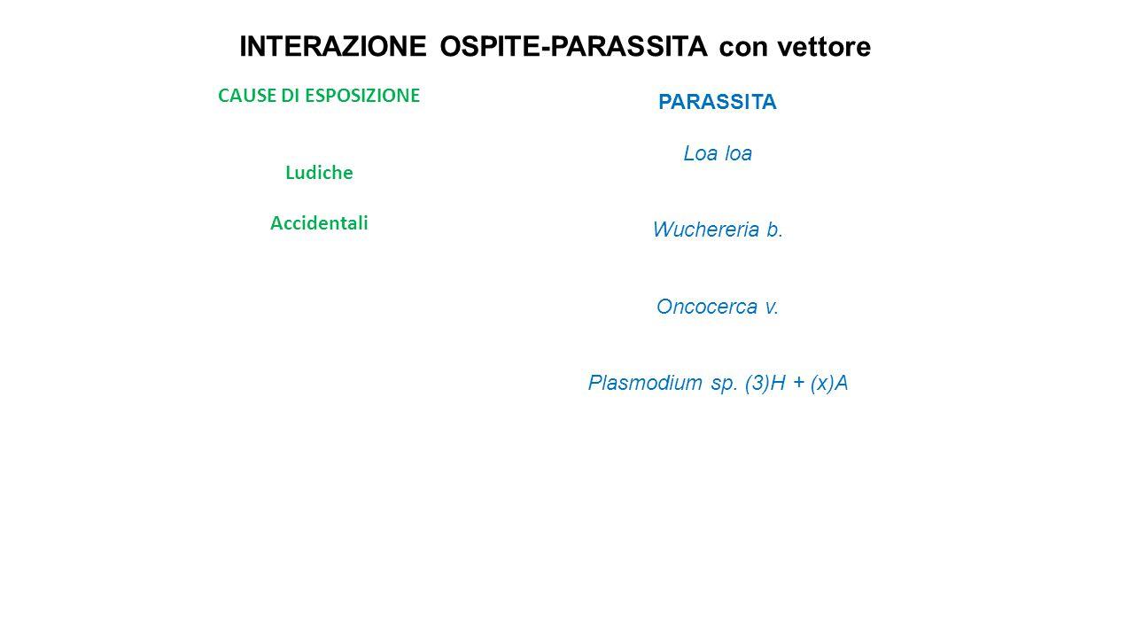 INTERAZIONE OSPITE-PARASSITA con vettore