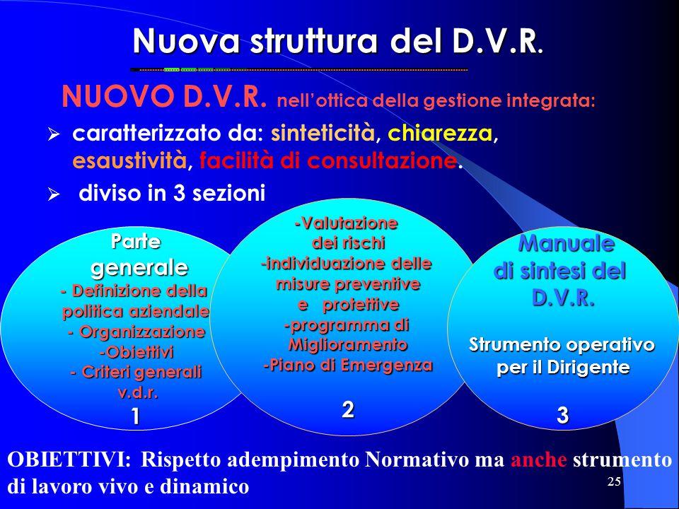 Nuova struttura del D.V.R.