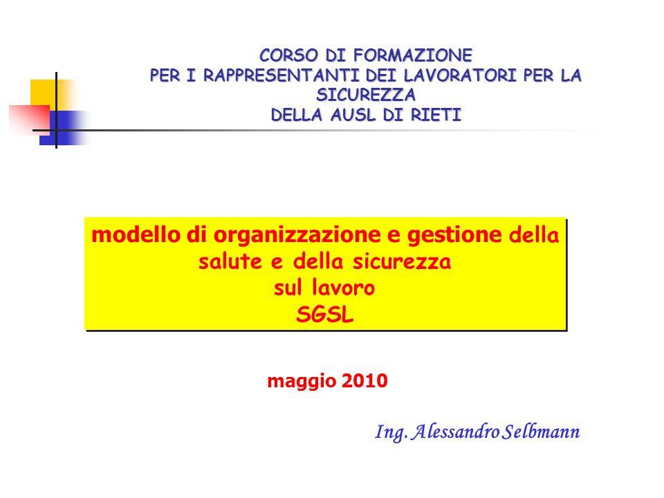 modello di organizzazione e gestione della salute e della sicurezza