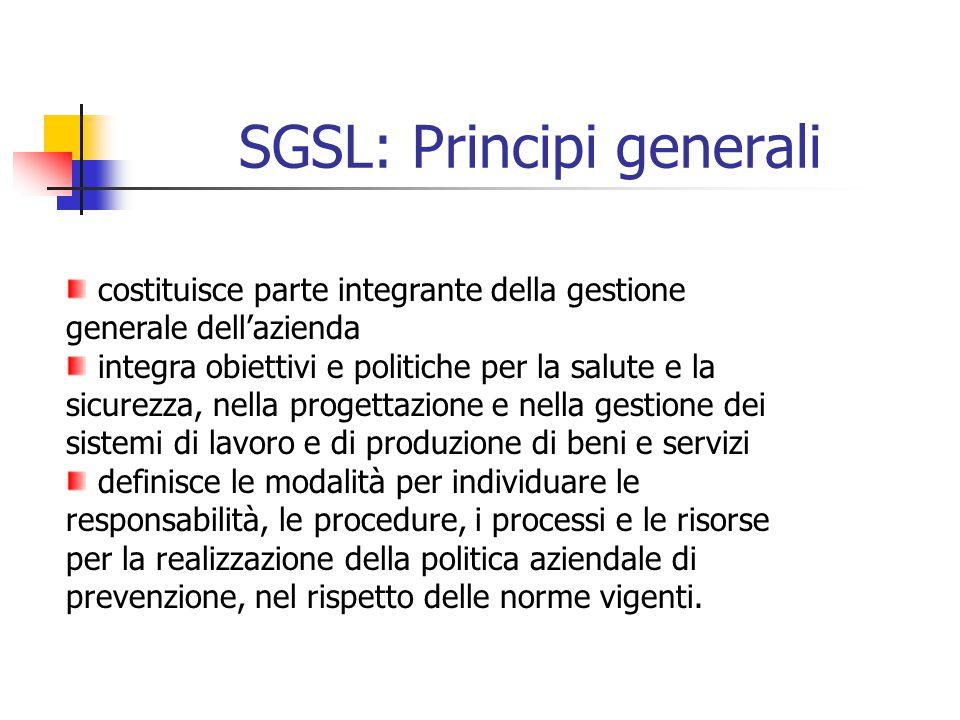 SGSL: Principi generali