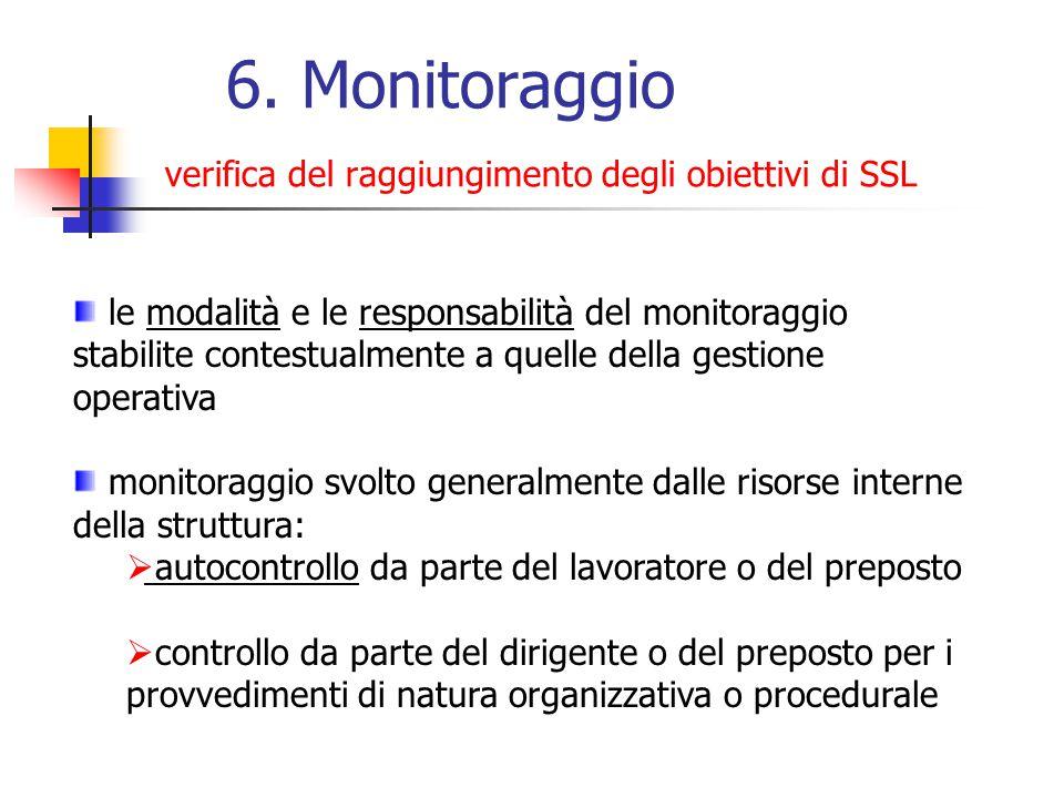 6. Monitoraggio verifica del raggiungimento degli obiettivi di SSL