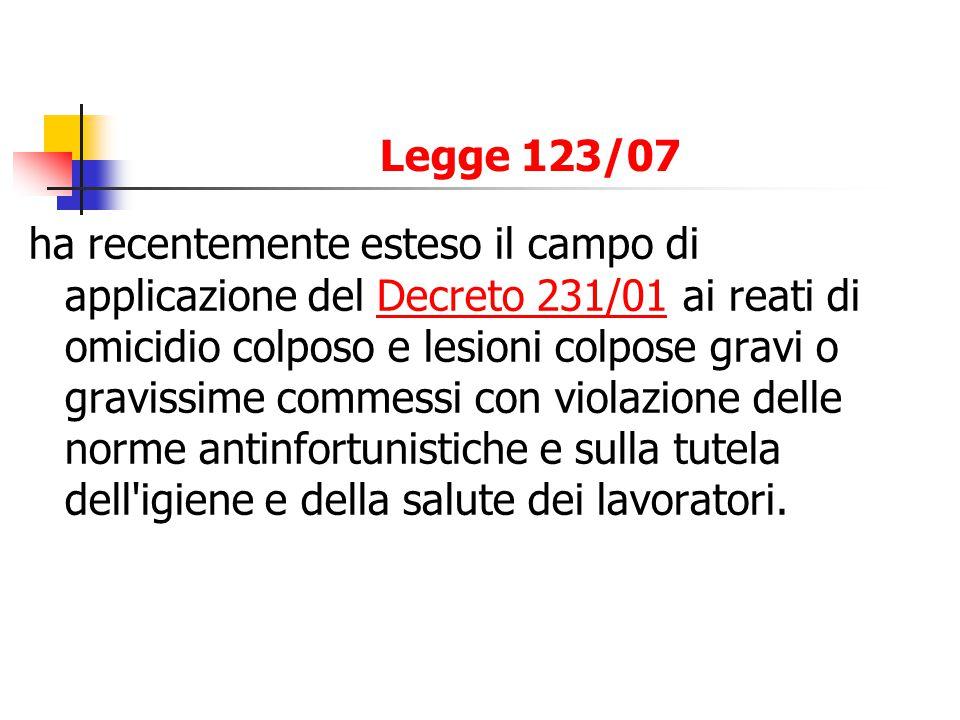 Legge 123/07