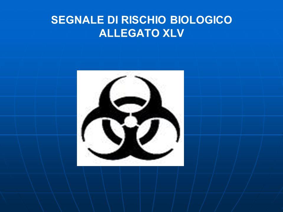 SEGNALE DI RISCHIO BIOLOGICO ALLEGATO XLV