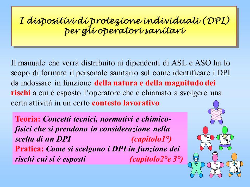 I dispositivi di protezione individuali (DPI) per gli operatori sanitari
