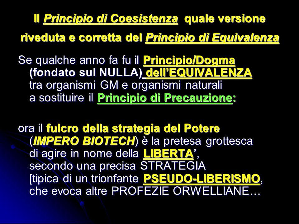 Il Principio di Coesistenza quale versione riveduta e corretta del Principio di Equivalenza