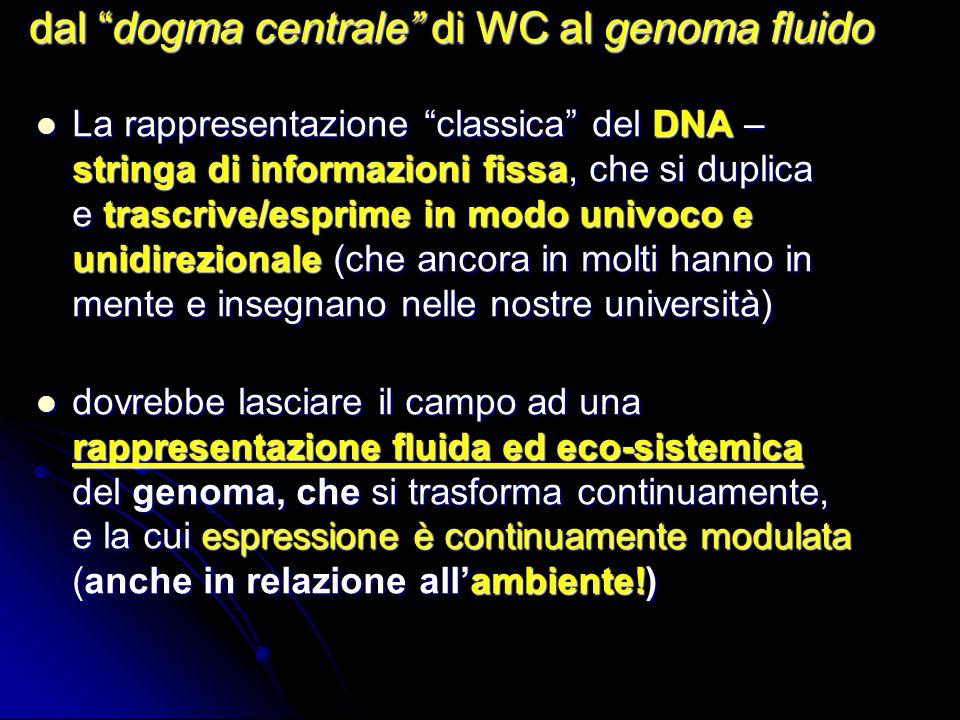 dal dogma centrale di WC al genoma fluido