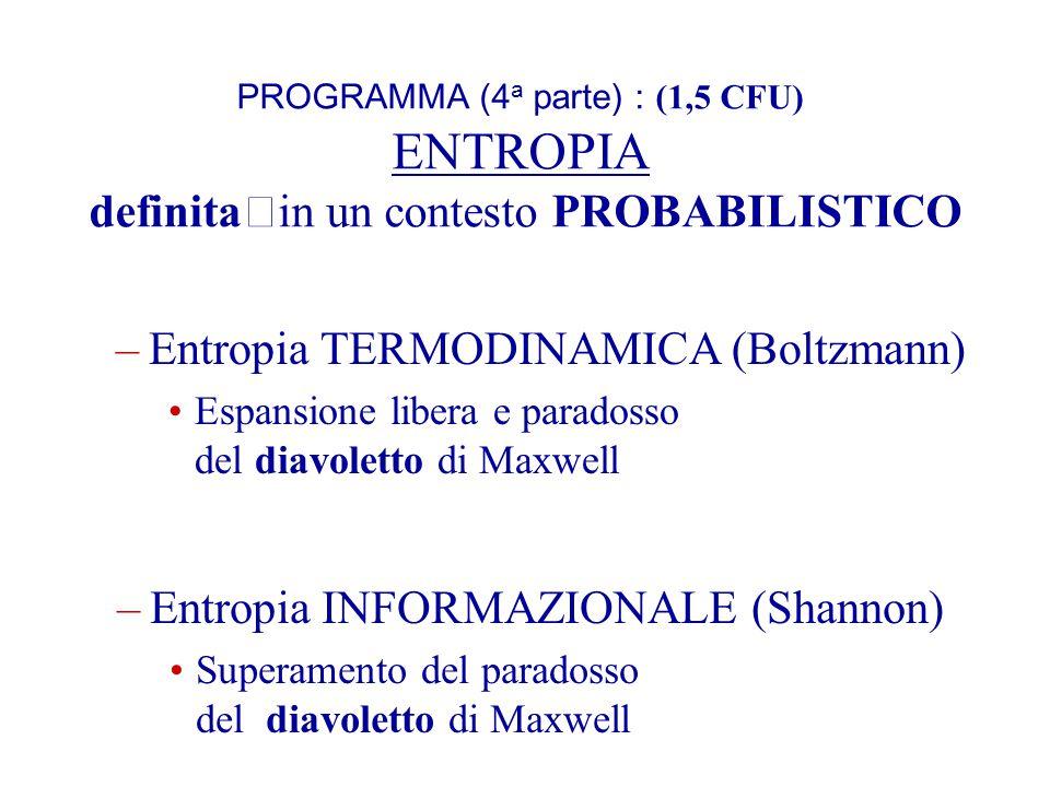 Entropia TERMODINAMICA (Boltzmann)