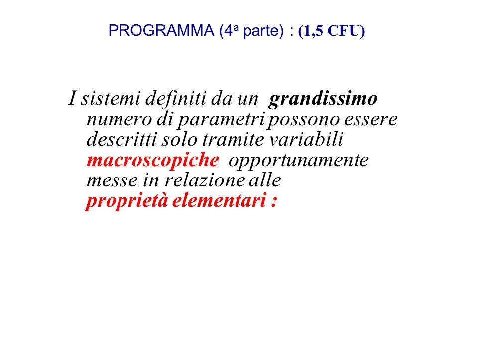 PROGRAMMA (4a parte) : (1,5 CFU)